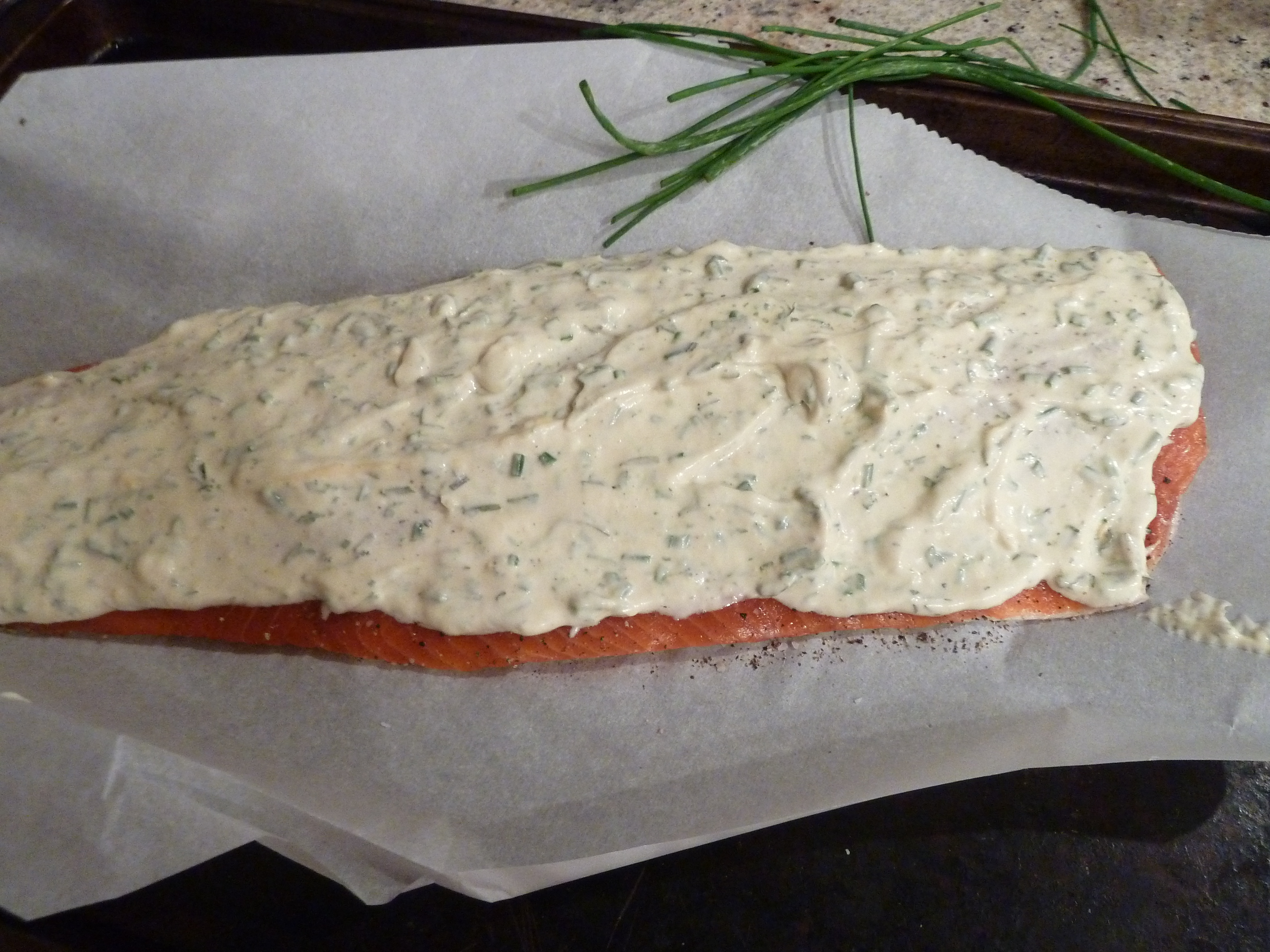 Barbecued Salmon In Foil With Tarragon, Chives & Vermouth ...