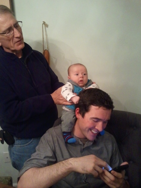 My dad, my nephew and brother