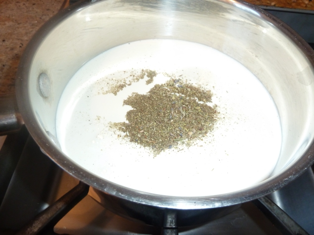 cream and herbs de provence