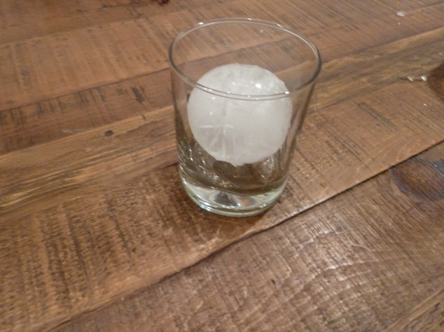 Tovolo Sphere Ice Molds,, shown in a cup