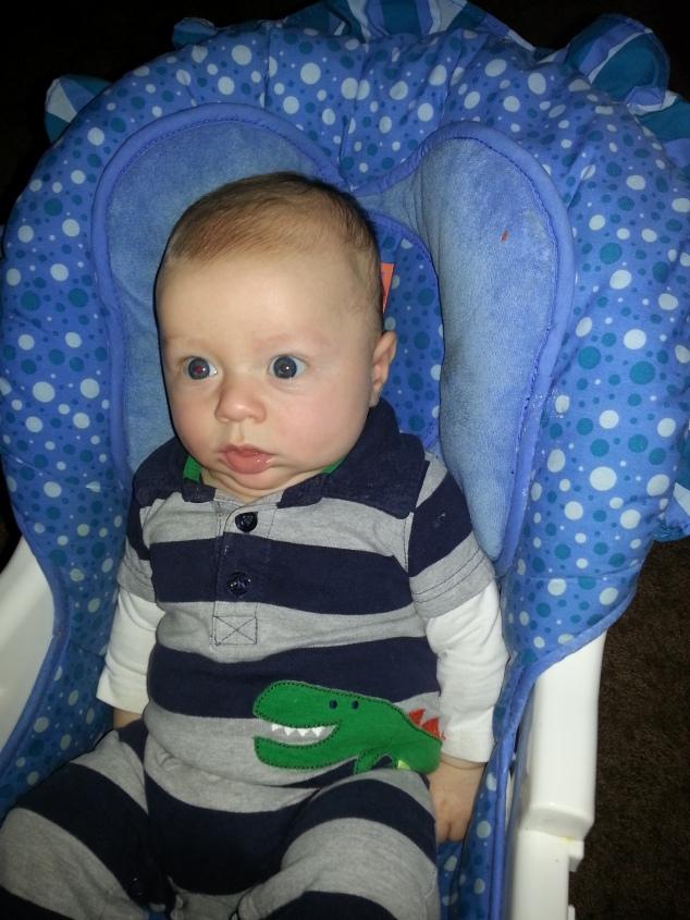 my nephew, 2 1/2 months