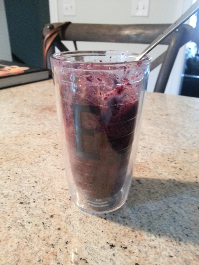 Blueberry banana faux smoothie
