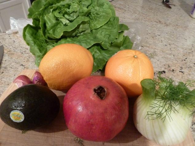 Ingredients for Fennel and Orange salad