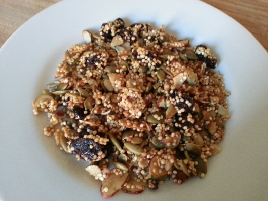 Crispy Quinoa Granola-good by iteself