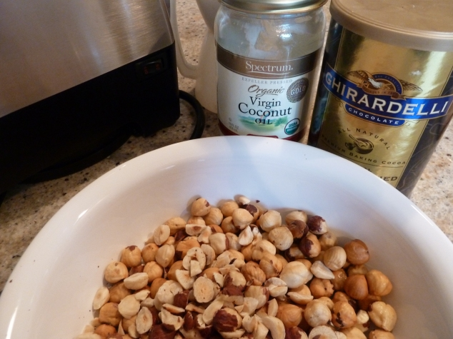 Hazelnuts and coconut oil