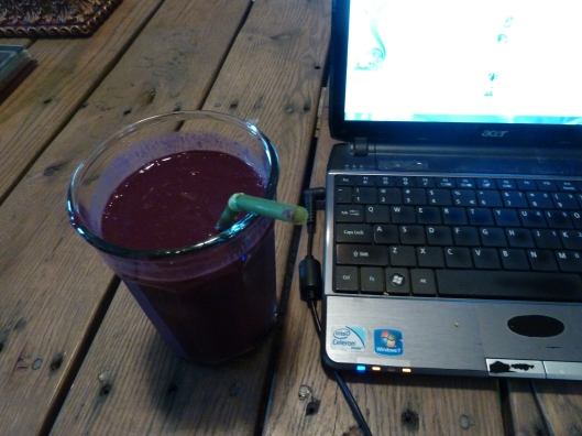 Swiss Chard Blueberry Protein Smoothie