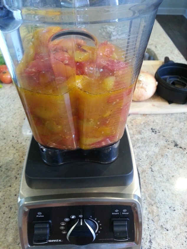 raosted tomatoes in the Vitamix