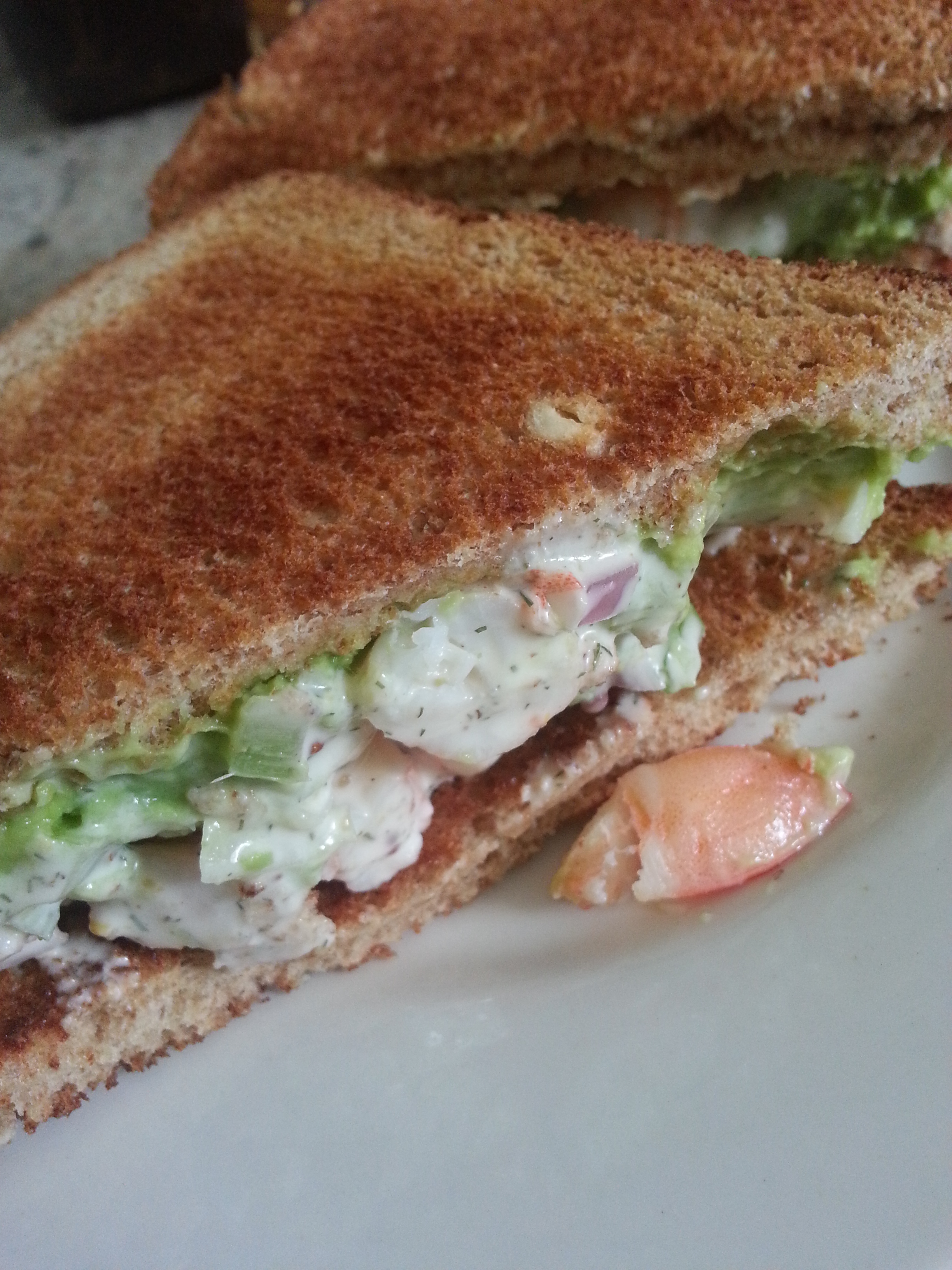 recipe: shrimp salad melt [30]