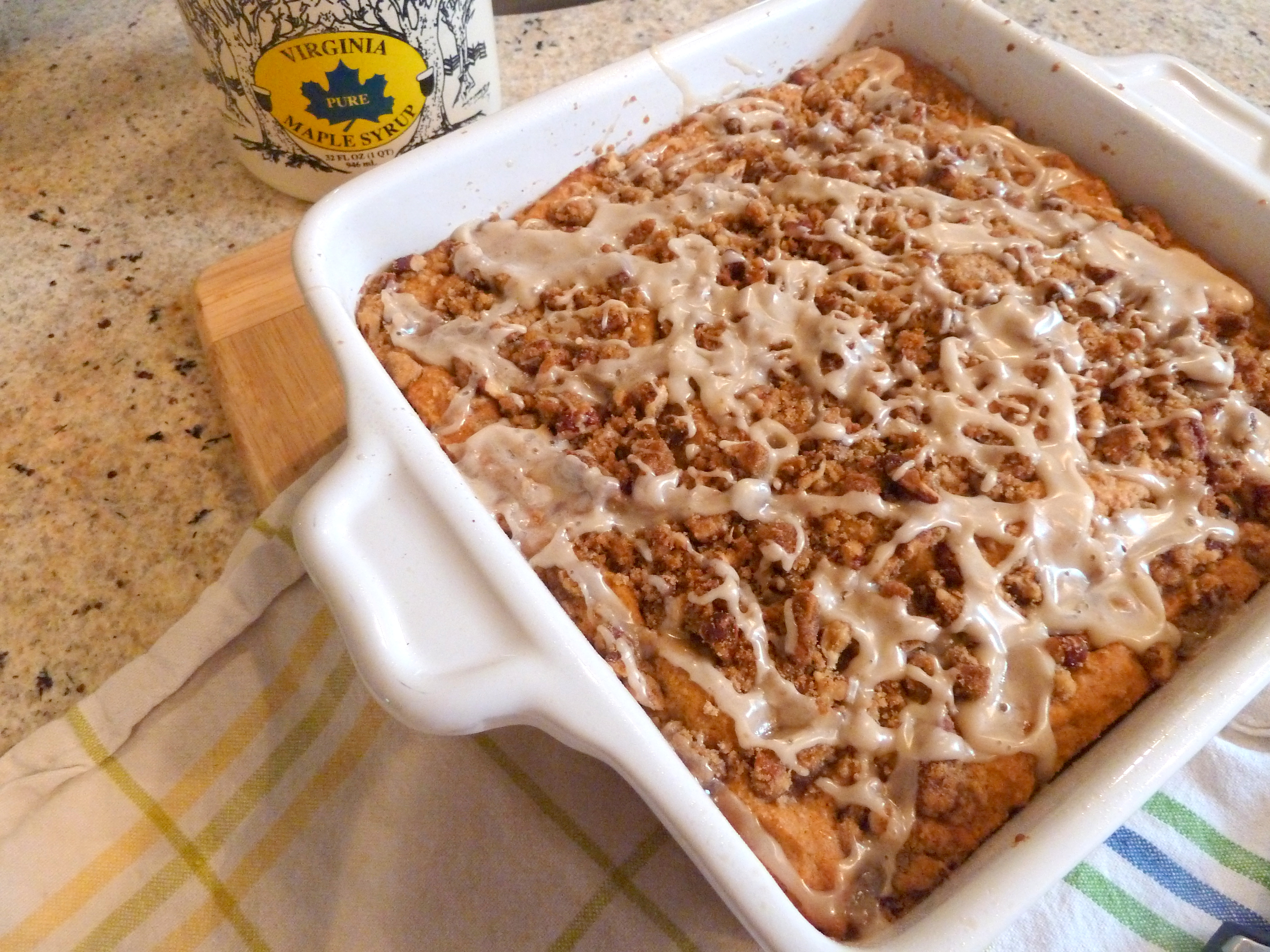 Maple Glazed Pumpkin Coffee Cake | Rosemary and Olive Oil