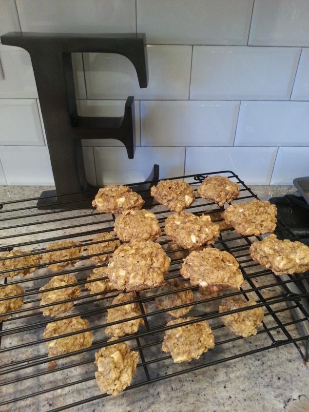 Buckwheat, pumpkin white chocolate chip cookies