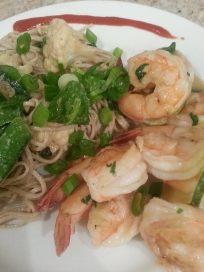 shrimp and soba noodles