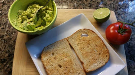 toast and avocado