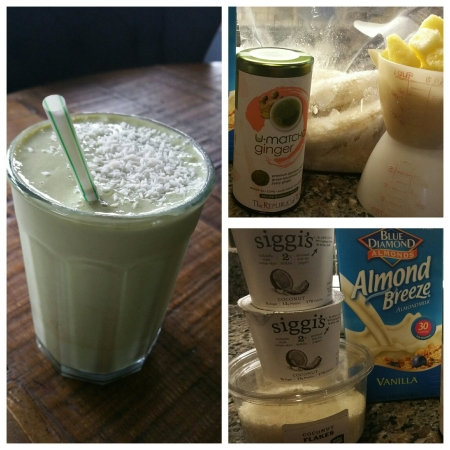 Tropical Coconut Matcha Smoothie