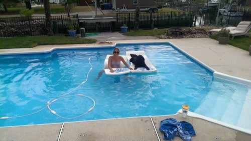 me and walter in pool