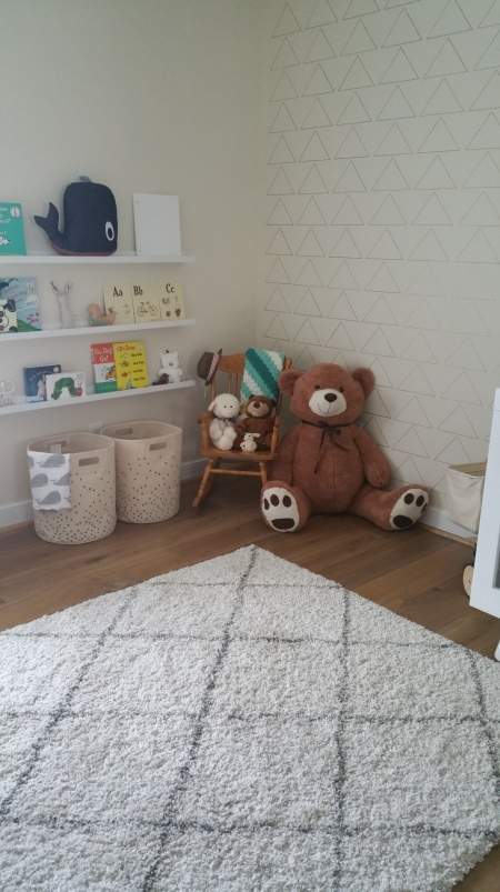 Ikea ribba picture shelves and reading corner