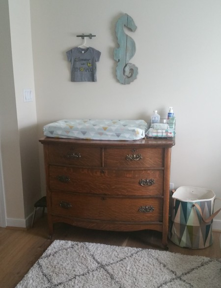 changing table and dresser
